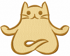 Yoga Cat Lotus Pose free embroidery design