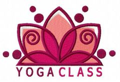 Yoga class 2 embroidery design