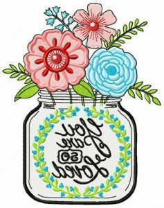 You are so loved embroidery design