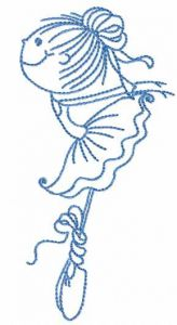 Young ballerina 2 embroidery design