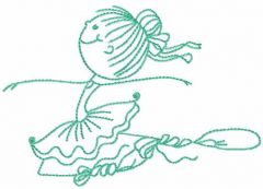 Young ballerina 14 embroidery design