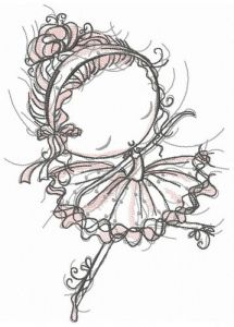 Young ballerina embroidery design