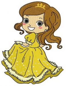 Young Belle embroidery design