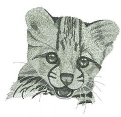Young cheetah portrait embroidery design