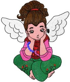 Little cute angel embroidery design