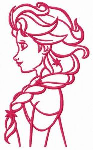 Young Elsa embroidery design