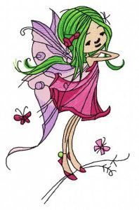 Young fairy 4 embroidery design