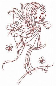 Young fairy 5 embroidery design