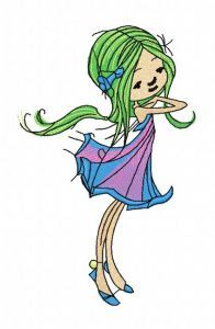 Young fairy 6 embroidery design