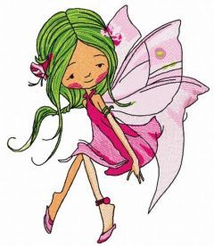 Young fairy 7 embroidery design