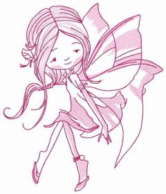 Young fairy 9 embroidery design