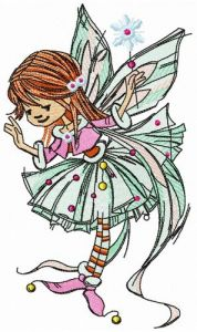 Young fairy girl embroidery design