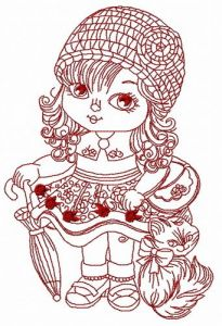 Young fashion-monger 4 embroidery design