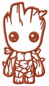 Young Groot embroidery design