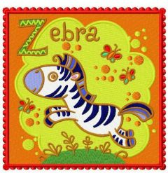 Zebra machine embroidery design 2