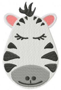 Zebra muzzle free embroidery design