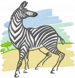 Zebra sketch embroidery design
