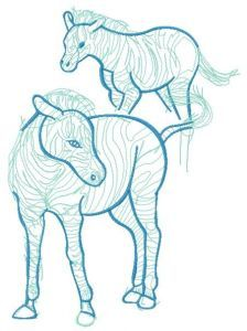 Zebra sketch embroidery design 2