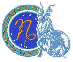 Zodiac sign Сapricorn 2 embroidery design