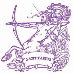 Zodiac sign Sagittarius 6 embroidery design