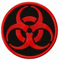 Zombie Outbreak Response Team alternative logo embroidery design