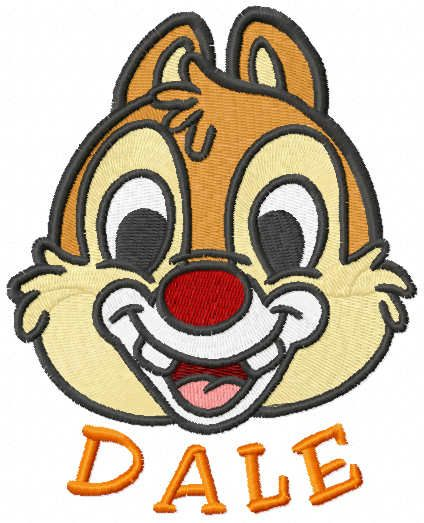 Dale muzzle embroidery design