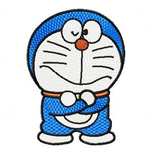 Doraemon embroidery design
