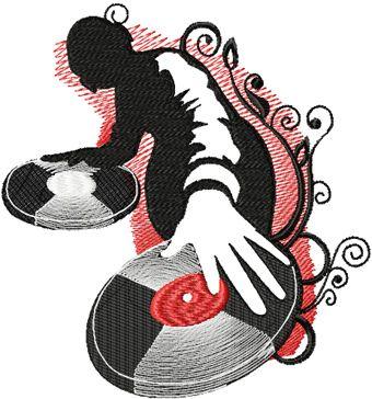Disco Man free embroidery design