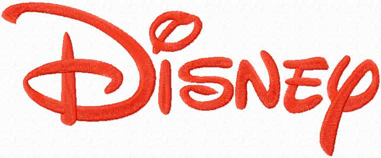 Disney logo machine embroidery design
