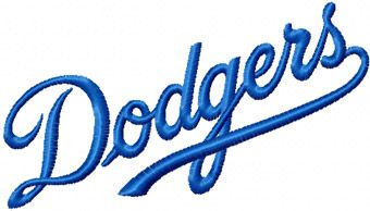 Los Angeles Dodgers Script Logo machine embroidery design