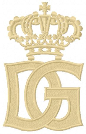 Dolce & Gabbana logo machine embroidery design