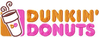 Dunkin Donuts logo machine embroidery design