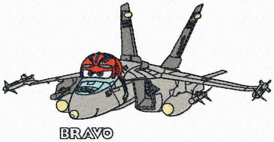 Bravo Disney Planes machine embroidery design