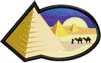 Egypt free machine embroidery design