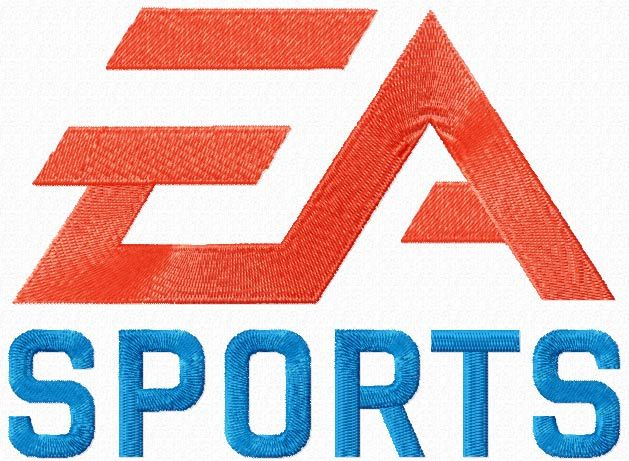 EA Sports logo machine embroidery design