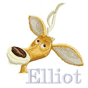 Elliot machine embroidery design