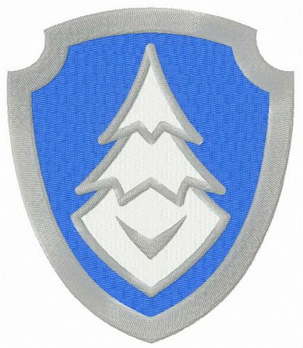 Everest logo from Paw Patrol embroidery design