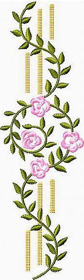 Flower Border Embroidery Design 2