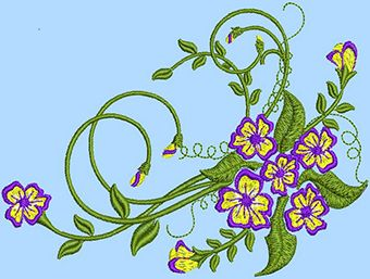 Flower Fantasy embroidery design