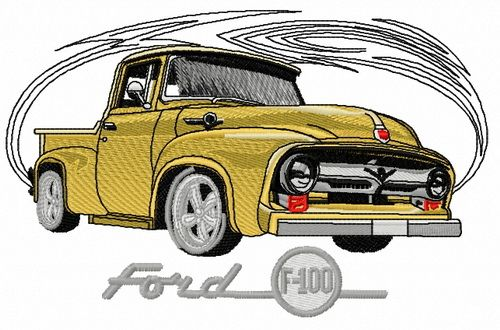 Truck lovers Ford Truck 3 Sizes Auto Truck Machine Embroidery Design Car Enthusiast Chevy Truck Classic Truck Cars