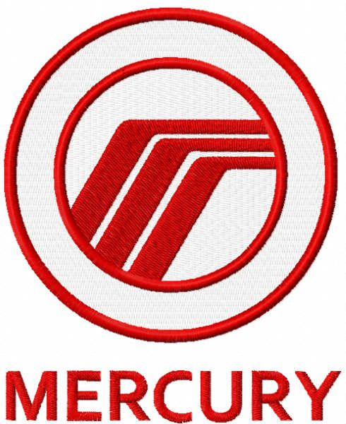 Ford Mercury logo embroidery design