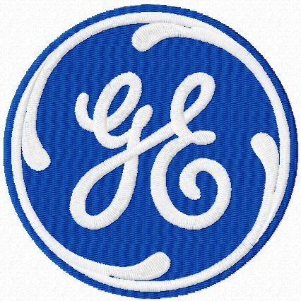General Electric logo machine embroidery design