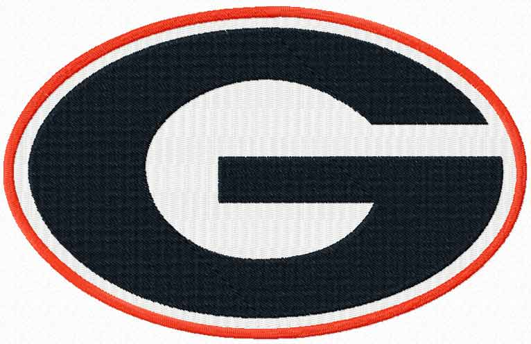 Georgia Bulldogs logo embroidery design