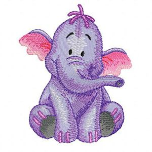 Heffalump embroidery design 2