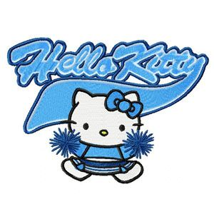 Hello Kitty Cheerleading embroidery design