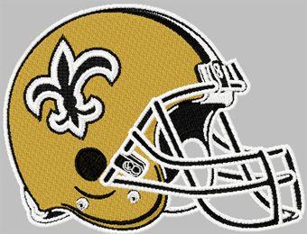 New Orleans Saints helmet machine embroidery design