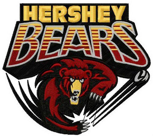 Hershey Bears Logo 2 Machine Embroidery Design