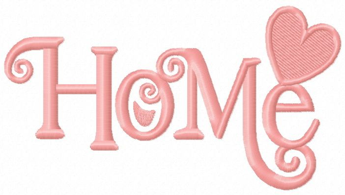 Home embroidery design