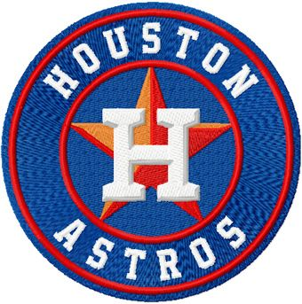 Houston Astros logo embroidery design 2