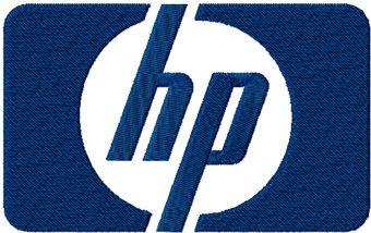 HP Hewlett Packard logo machine embroidery design